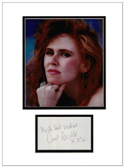 Carol Decker Autograph Signed Display - T'Pau